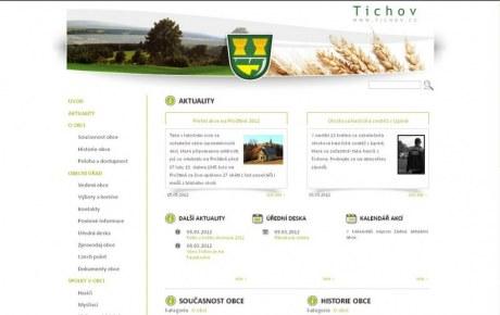 Tichov.cz - webová prezentace obce